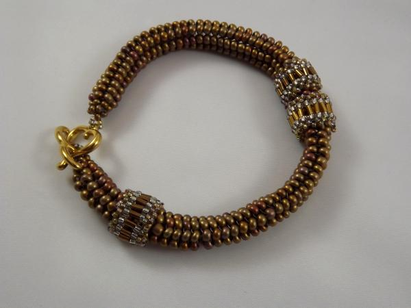 B-11 bronze ndebele bracelet with moveable rings