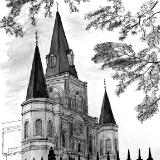 St. Louis Cathedral (B&W)