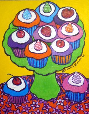"""""""Pop Art"""" Cupcake Platter"""