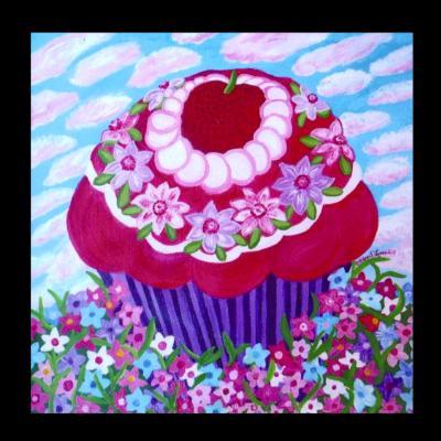 Cloudy Day Cupcake