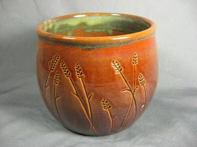 101219.D Wheat Carving Crock
