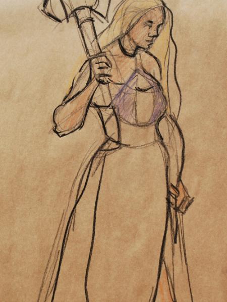 Amber, Standing Barbarian 2