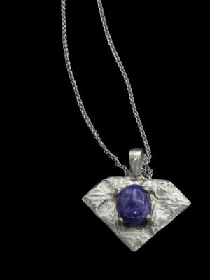 Charoite and Sterling Pendant