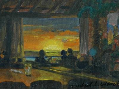Ohau Waikiki Sunset from Cheeseburger