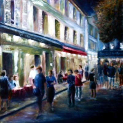 Nighttime in Montmartre 2 - SOLD
