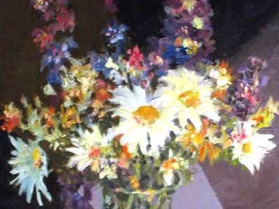 Study Still Life Flowers