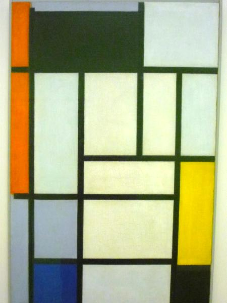 Composition with red, black, yellow, blue &grey; Piet Mondriaan