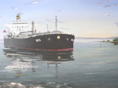"Ecuadorian oil carrier ""Maya"", 120cm x 60cm, 2013"