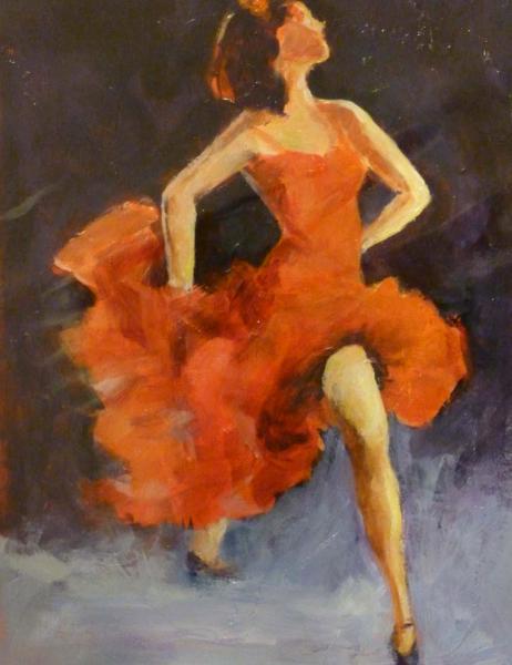 Flamenco Dancer in Red ~ Sold