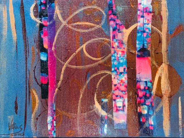 Confetti Light- Mix Collage-Canvas 6x8