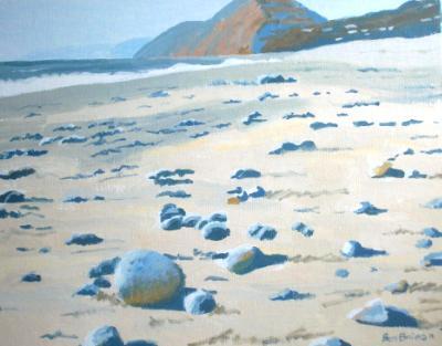 Pebbles on Branscombe beach