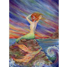 Siren Song mermaid greeting card