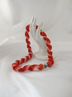 N-91 Orange Spiral Necklace