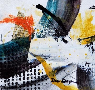 Acrylics Mixed Media Abstract Study