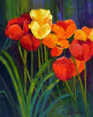 Tulips - Red Yellow Orange