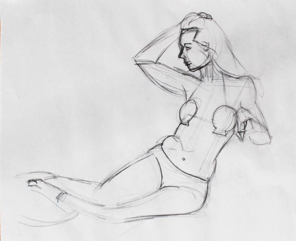 Amber as Mermaid, Seated
