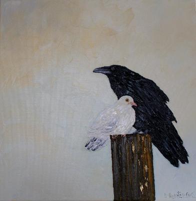 Noah sent out a dove and a raven