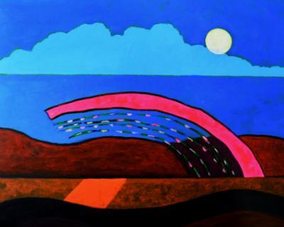 Landscape being observed