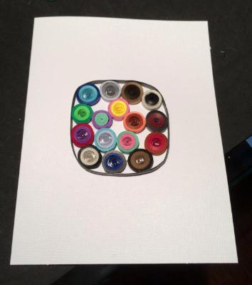 Abstract circles quilled greeting card