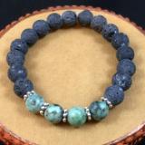 Lava Rock & African Turquoise Diffuser Bracelet