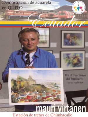 Watercolor demonstration in Quito - Ecuador, 25.06.2019