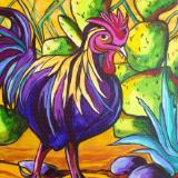 Cock-a-Doodle Doo - Original Acrylic on Canvas 14x11 SOLD
