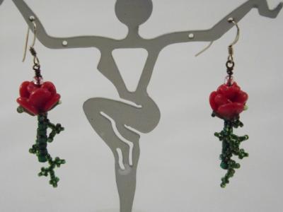 E-18 Rosebud Earrings