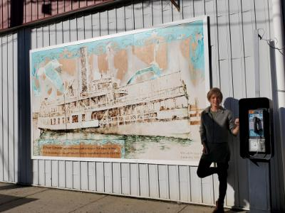 "Mural ""River Queen"" in Keyport NJ"