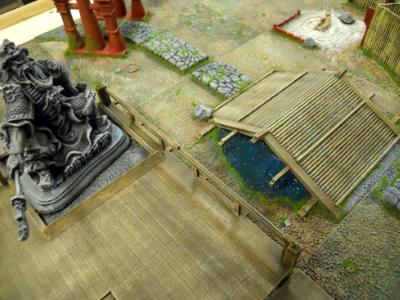 Deck/Statue and Bridge