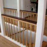 Rosewood (kokobolo) and oak balustrade with handrail