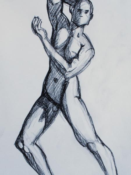 Male Nude, Standing