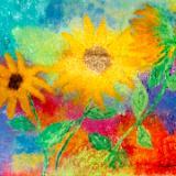Frolicking Sunflowers 1