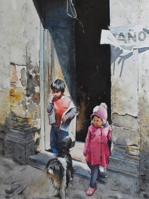 Bolivian innocence, 38cm x 56cm, 2021