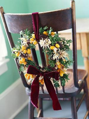 chair decoration-photo credit: Better Homes and Gardens