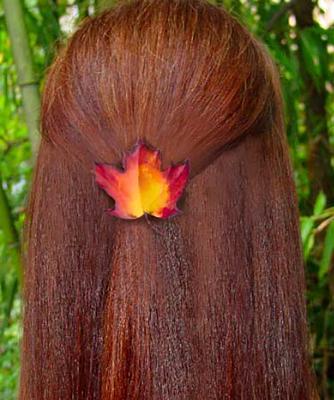 Maple Leaf Hair Clip