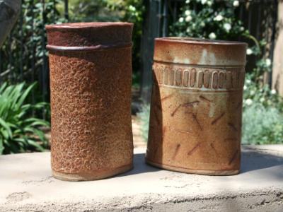 Two Textured Jars