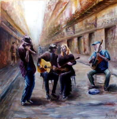 Musicians on Royal Street - SOLD