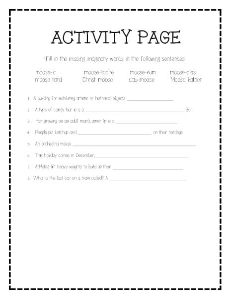 Activity Page | Fill in the Blank