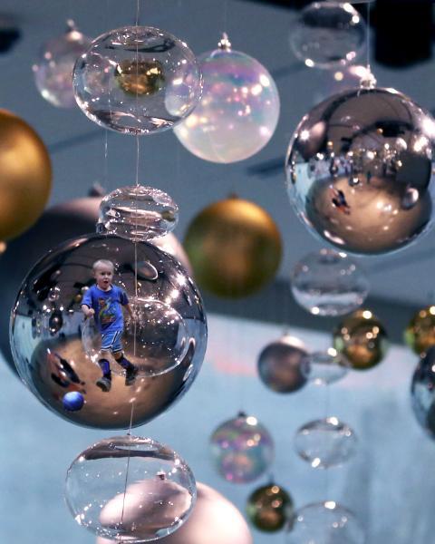C in a Bubble, original artwork of your child in a bubble