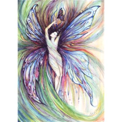 Butterfly fairy fantasy art print from original painting by Liza Paizis
