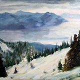 view from schweitzer - plein air