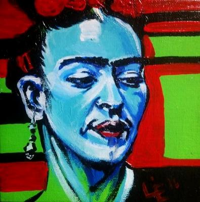 Painting 9 of 10 Fun Frida Commissions