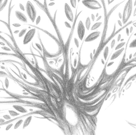 Tree of Life art print of a Dryad Spirit from the original drawing