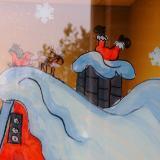 Santa falling in chimney