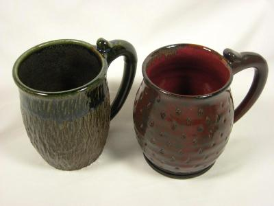 100829.F, H Textured Mugs