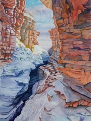 Patio Above Deer Creek Falls, Grand Canyon