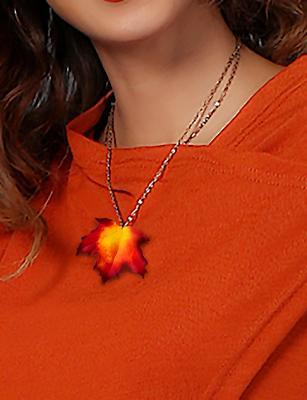 Maple Leaf Necklace Pendant
