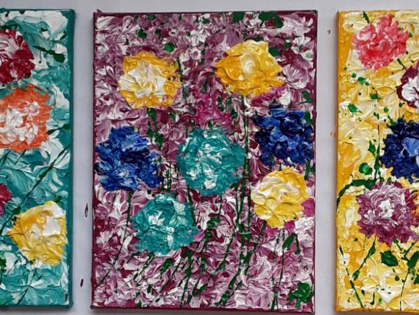 Flowers Tryptych