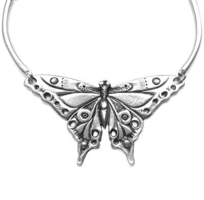 Art Nouveau Butterfly Necklace an original design butterfly choker
