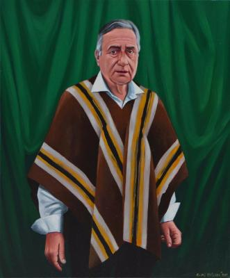 Oil portrait of Father HEINRICH ROSNER, 50cm x 60cm, 2015